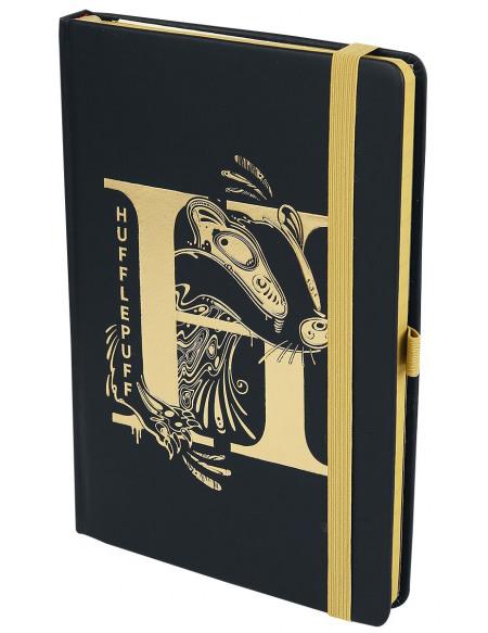 Harry Potter Poufsouffle - Carnet Premium Cahier noir/jaune