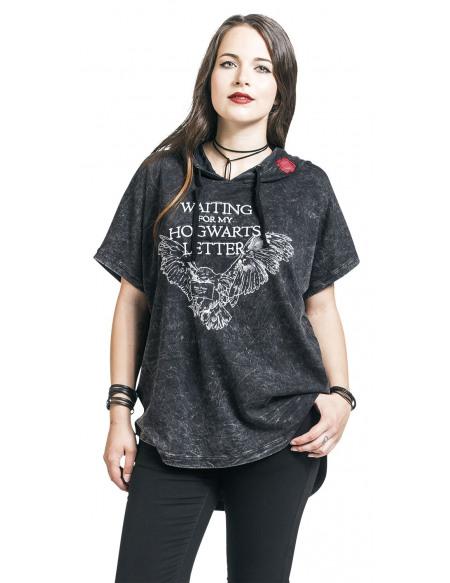Harry Potter Hogwarts Letter - Waiting T-shirt Femme gris foncé