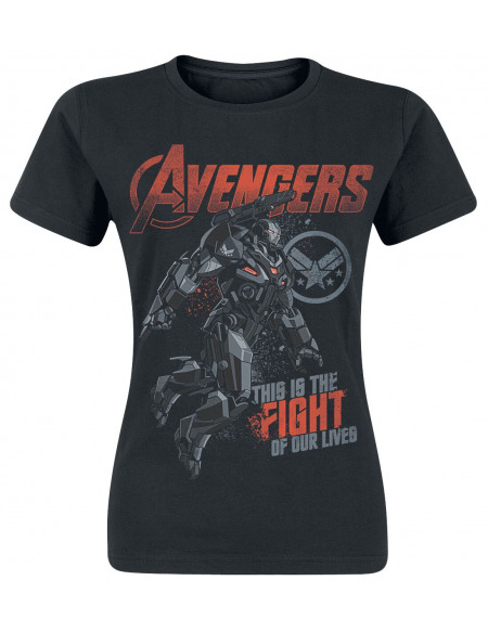 Avengers Endgame - War Machine - Fight T-shirt Femme noir