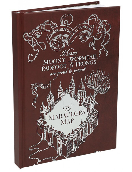 Harry Potter La Carte Du Maraudeur Cahier multicolore