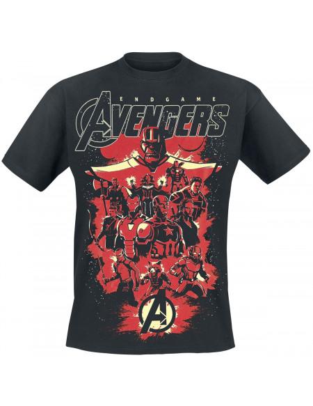 Avengers Endgame - Team Up T-shirt noir