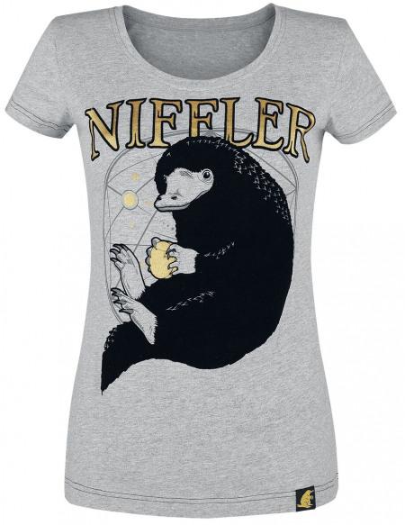 Les Animaux Fantastiques Les Crimes De Grindelwald - Niffleur T-shirt Femme gris clair
