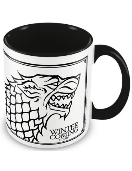 Game Of Thrones Maison Stark Mug blanc/noir