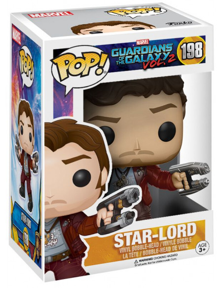 Figurine Funko Pop Les Gardiens de la Galaxie Vol.2 Star-Lord 9 cm