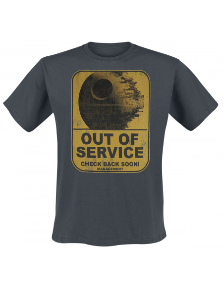 Star Wars Étoile Noire - Out Of Service T-shirt anthracite