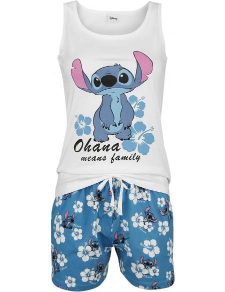 Lilo & Stitch Hawaii Pyjama blanc/bleu