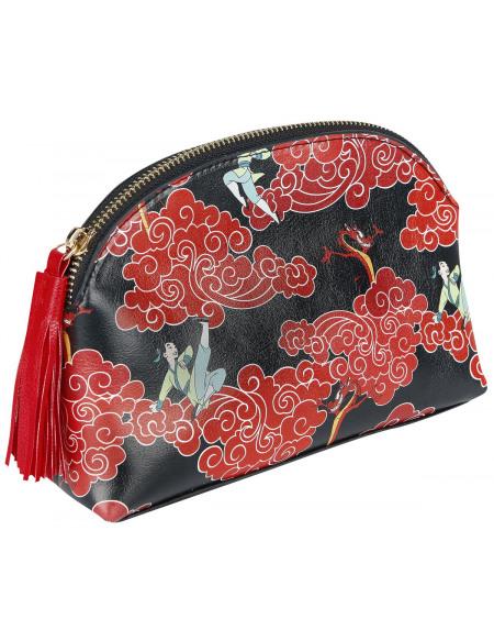 Mulan Symbole Dragon Trousse de Toilette noir/rouge