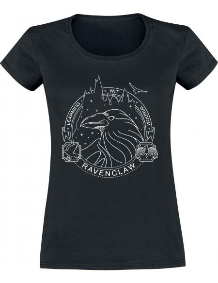 Harry Potter Serdaigle Sceau T-shirt Femme noir
