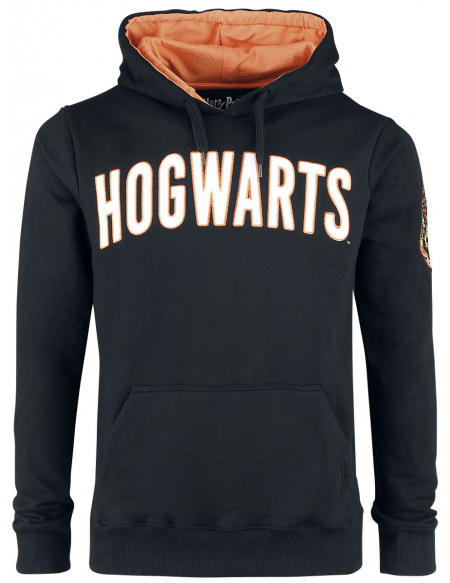 Harry Potter Hogwarts Crest Sweat à capuche noir