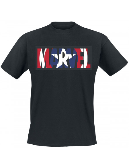 Captain America Logo Marvel T-shirt noir