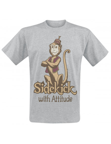 Aladdin Abu - Sidekick With Attitude T-shirt gris chiné