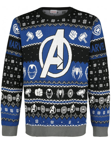 Avengers Logo Pull tricoté multicolore