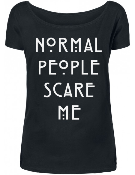 American Horror Story Normal People Scare Me T-shirt Femme noir