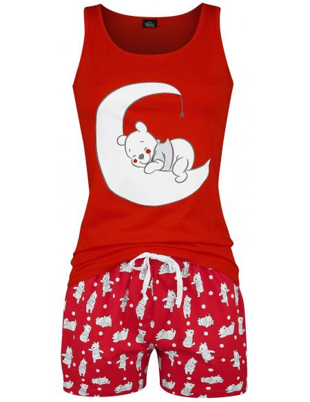 Winnie L'Ourson Pois Pyjama rouge
