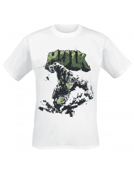 Avengers Dessin Hulk T-shirt blanc