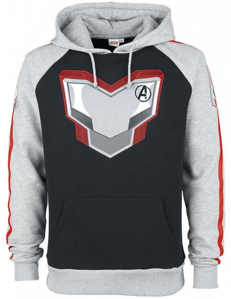 Avengers Endgame - Uniform Sweat à capuche chiné noir/gris