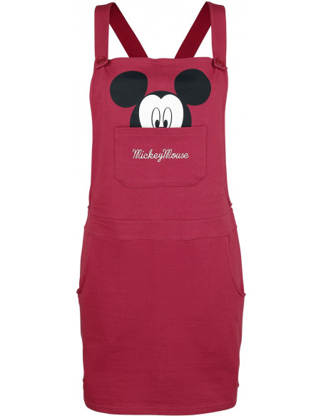 Mickey & Minnie Mouse Tête Robe framboise