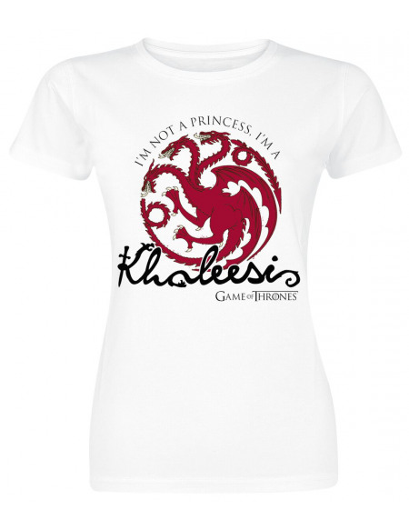 Game Of Thrones Daenerys Targaryen - Khaleesi T-shirt Femme blanc