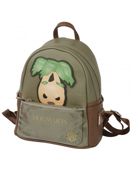Harry Potter Loungefly - Mandragore Sac à Dos vert olive/marron