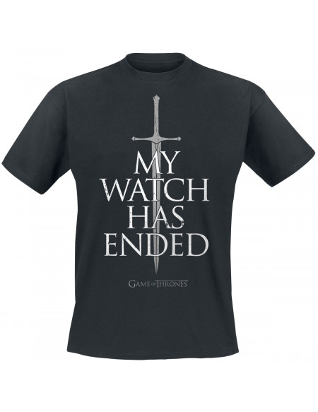 Game Of Thrones My Watch Has Ended T-shirt noir
