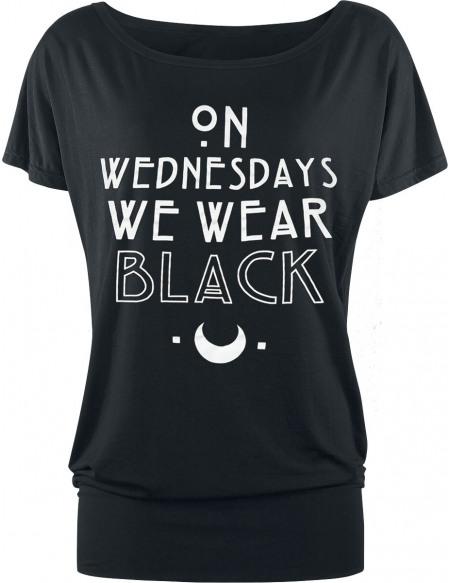 American Horror Story Wednesdays T-shirt Femme noir
