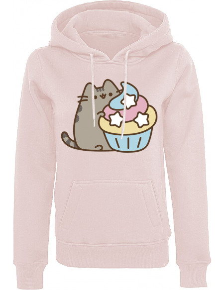 Pusheen The Cat Sweat à Capuche Femme rose