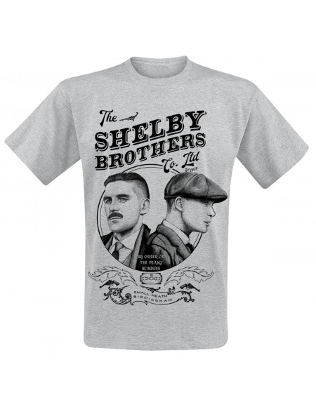 Peaky Blinders Shelby Brothers T-shirt gris chiné