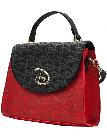 Walt Disney Loungefly - Logo Sac à Main rouge/noir