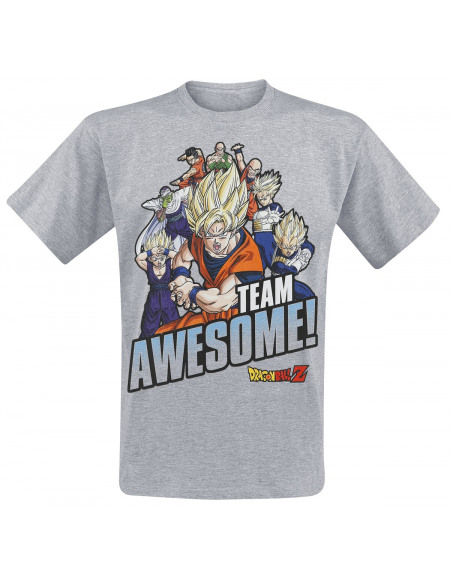 Dragon Ball Dragon Ball Super - Team Awesome T-shirt gris chiné