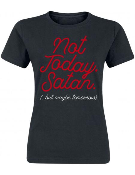 Not Today, Satan T-shirt Femme noir