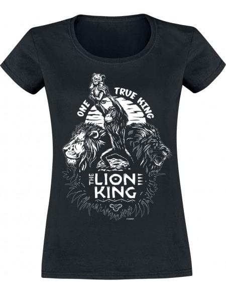 Le Roi Lion One True King T-shirt Femme noir
