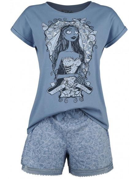 Les Noces Funèbres Emily Pyjama bleu