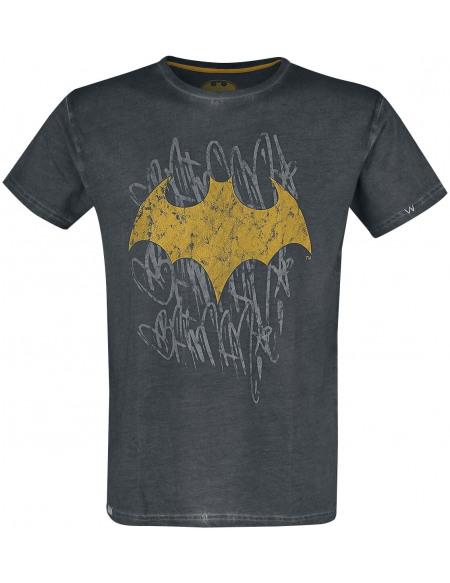 Batman Bat-Logo T-shirt gris foncé