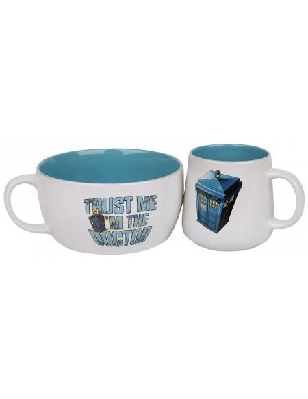 Doctor Who Tardis Set petit déjeuner multicolore