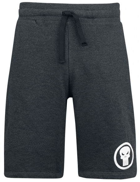 The Punisher Logo Short Gris anthracite chiné