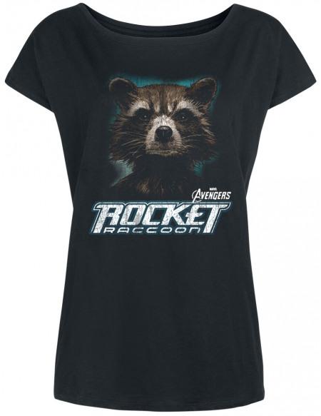 Avengers Endgame - Rocket Raccoon T-shirt Femme noir
