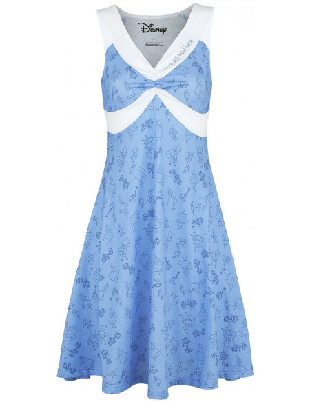 Alice Au Pays Des Merveilles Off To Wonderland Robe bleu clair