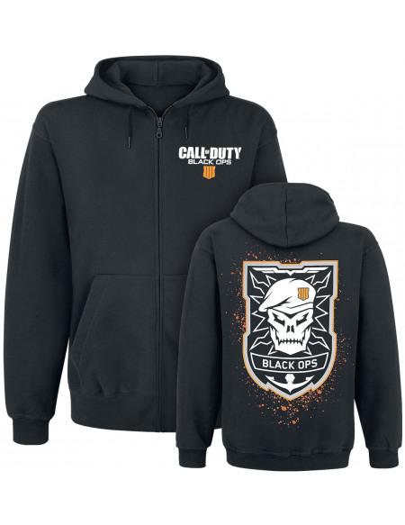 Call Of Duty Black Ops 4 - Emblem Sweat Zippé à Capuche noir