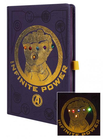 Avengers Infinity War - Gauntlet - Carnet Avec LED Cahier multicolore