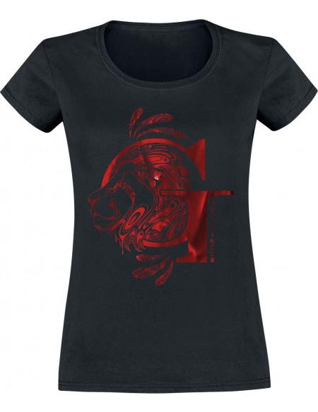 Harry Potter Gryffondor - Lion T-shirt Femme noir