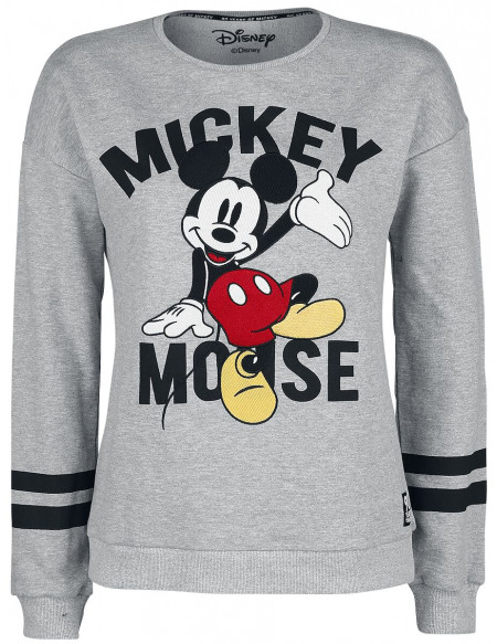 Mickey & Minnie Mouse Patch Sweat-shirt Femme gris chiné