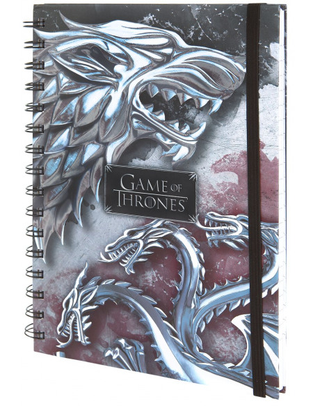 Game Of Thrones Stark & Targaryen Cahier multicolore