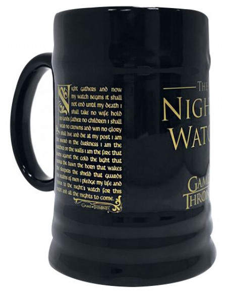 Game Of Thrones La Garde De Nuit Chope à bière noir