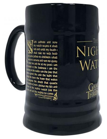 Game Of Thrones La Garde De Nuit Chope à bière noir