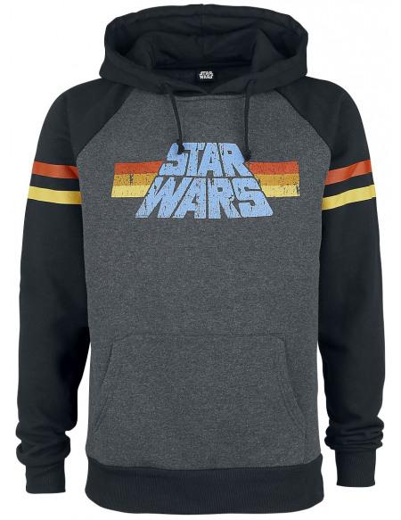 Star Wars 77 Sweat à capuche gris foncé chiné/noir