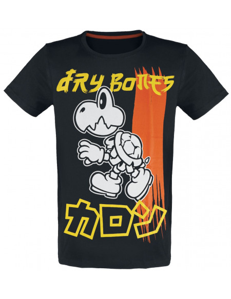 Super Mario Dry Bones T-shirt noir