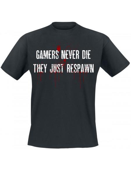 Gamers Never Die T-shirt noir