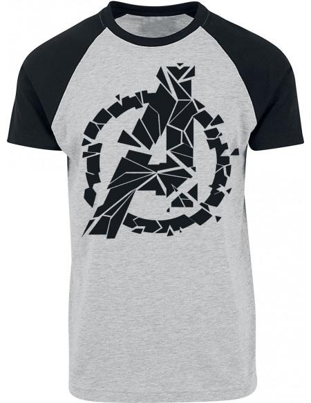 Avengers Logo T-shirt gris chiné/noir