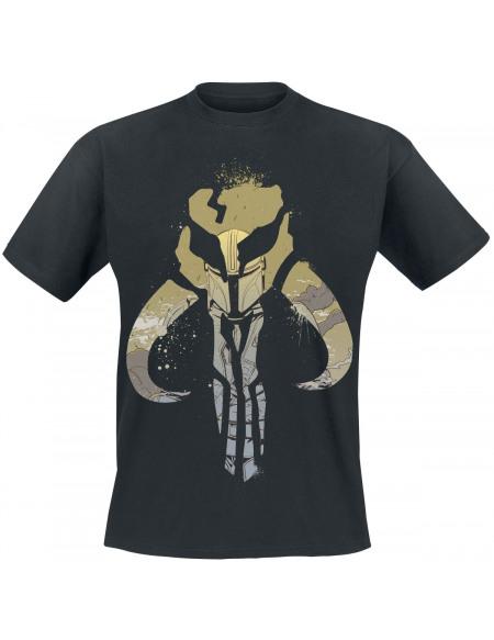 Star Wars The Mandalorian - Emblème Éclaboussures T-shirt noir