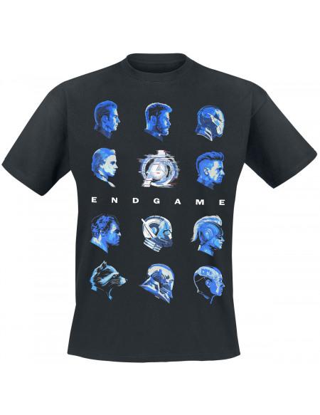Avengers Endgame - Têtes T-shirt noir